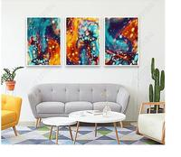 Abstract art Diy 5d full resin diamond painting mosaic landscape Daimond painting Diamond Embroidery colorful dots