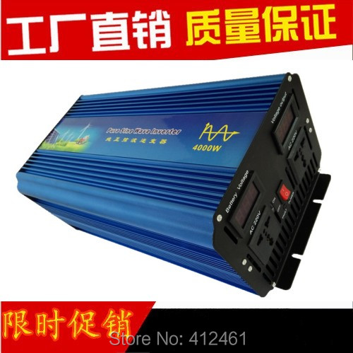 Digital Display 4000W Full Power 8000w peak power generator household high efficiency off grid pure sine wave power inverter