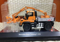 Mercedes Benz Unimog U 430 With Combine Mowing Machine Orange 1/50 By NZG 9101