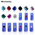 20 unids/pack Glitter Crystal AB Rhinestone Cuadrado del Cubo de Cristal Micro Bolas de Piedra 4mm DIY Belleza Del Arte Del Clavo 3d Decortions