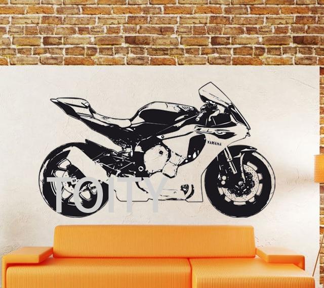 YAMAHA R1 Motorbike Creative Dirt Bike MotorCycle Home Vinyl Wall Sticker  Motor Racing Removable Wall Decal Part 92