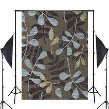 파란색 갈색 패턴 사진 배경 인쇄 천으로 사진 배경 사진 스튜디오 소품 5x7ft 벽 사진 배경