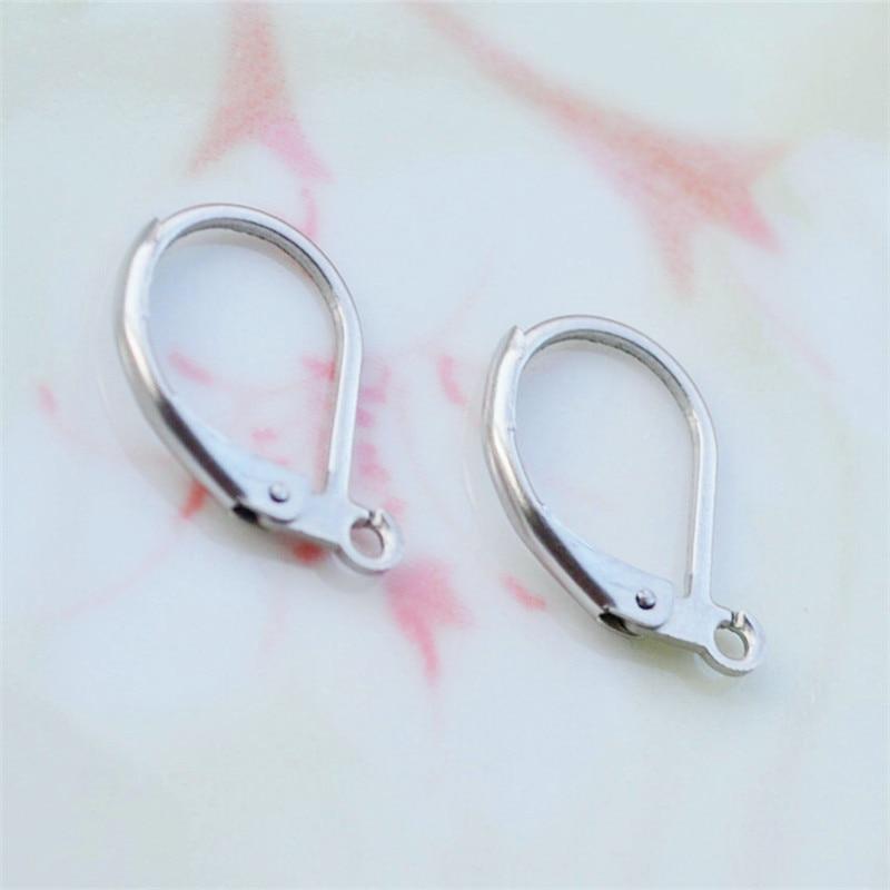 200PCS Earring Hooks Leverback Earwires Beadings Findings Components Handmade