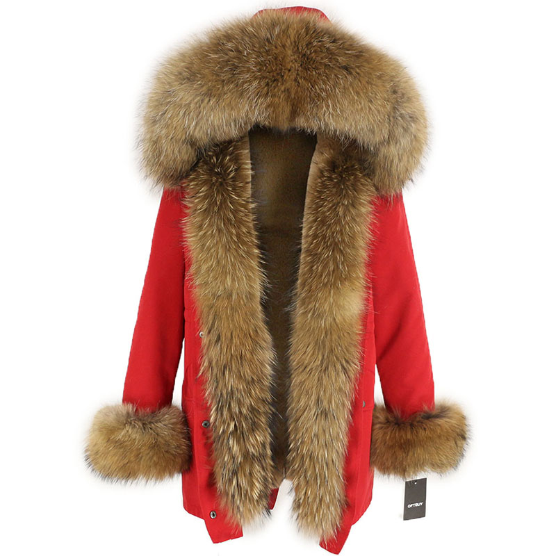 OFTBUY Waterproof Long Parka Winter Jacket Women Real Fur Coat Natural Fox Fur Collar Hood Thick Warm Streetwear Detachable New 101