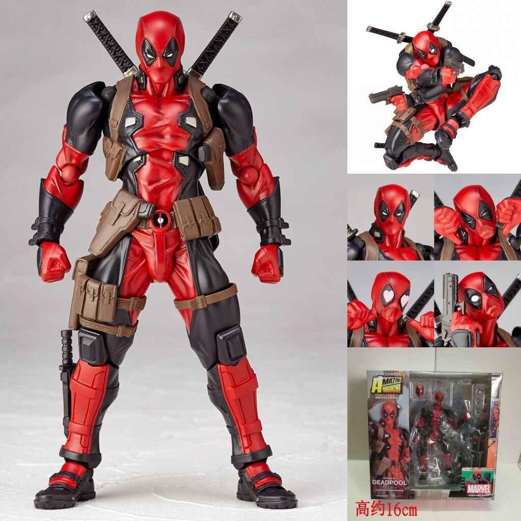 Deadpool figuras de ação super-heróis figuras Mini Decoração boneca PVC Brinquedos para crianças anime modelo Coleção Estatueta oyuncak