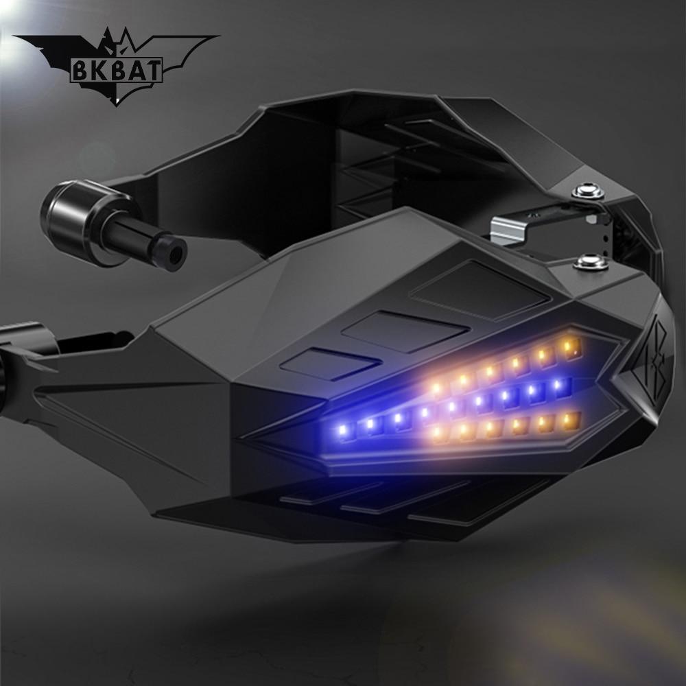 LED Motorcycle Handguards Motocross Hand guard for yamaha fz16 accessories bmw gs 1200 lc honda x4 triumph tiger yamaha xjr 1300