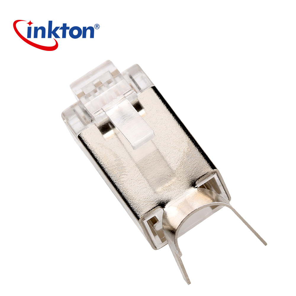 medium resolution of aliexpress com buy inkton networking wire rj45 cat7 ethernet connector ftp 8p8c metal shielding modular plug gold plated network crystal head from