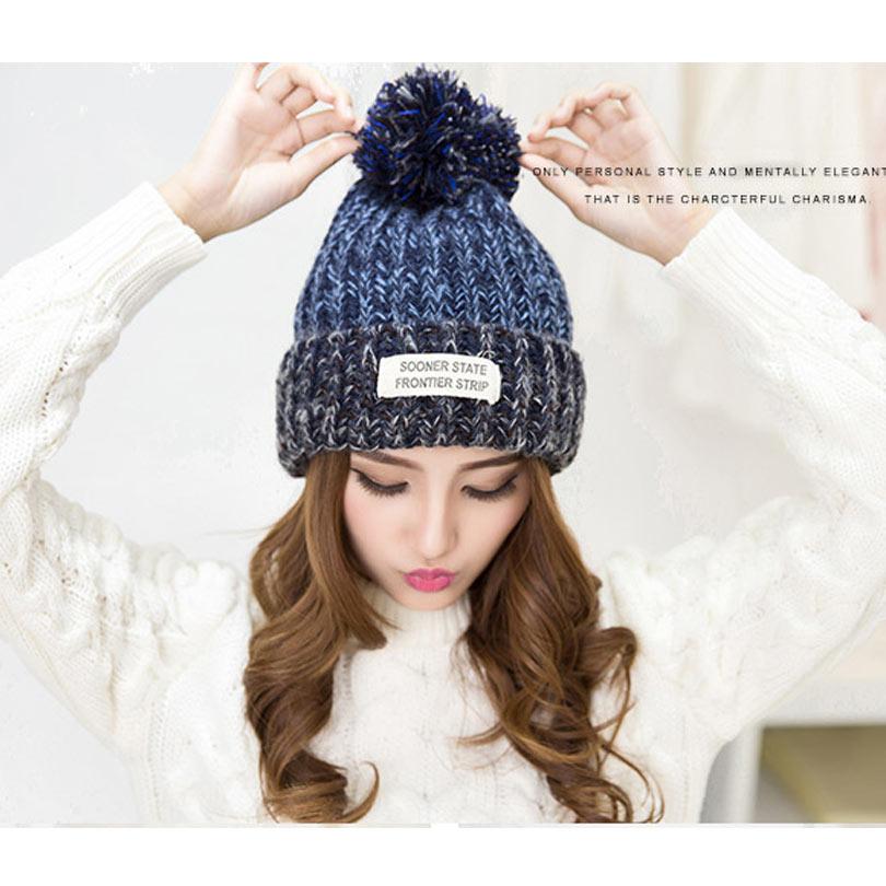 tienda online sombreros de invierno para para gorros de lana hermosas  mujeres lindas de sombrero moda 5ddb5336bea