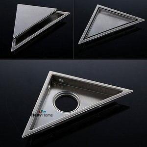 Image 5 - AODEYI Hidden Type Triangle Tile Insert Floor Waste Grates Shower Drain 232mm*117mm 304 Stainless Steel Floor Drain11 184
