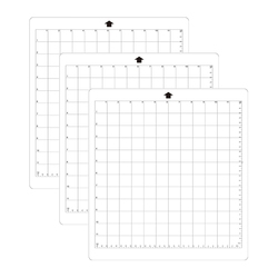 Promotion! 3Pcs Replacement Cutting Mat Transparent Adhesive Mat With Measuring Grid 8 By 12-Inch For Silhouette Cameo Plotter