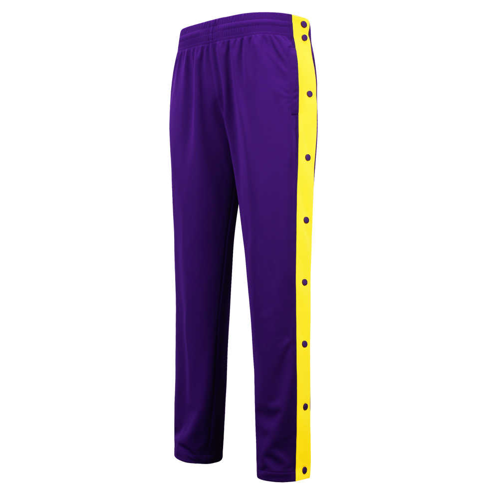 SANHENG Men's Basketball Trainning Pants Competition Uniforms Pants Full Button Basketball Pant Winter Sports Clothes 513B