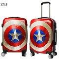 ZYJ дети мультфильм Капитан Америка путешествия прокатки Чемодан девочек Для мужчин Для женщин чемодан нести на 20