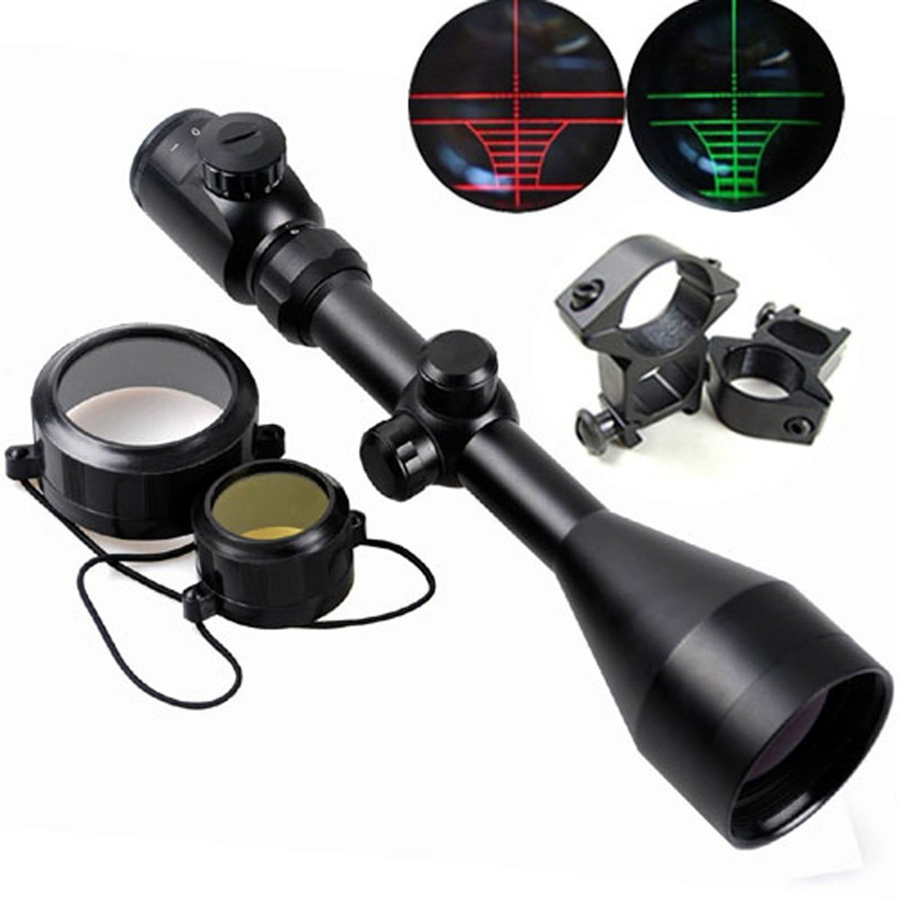 Tactical 3-9X56 Red&Green Illuminated Optics Hunting Air Rifle Scope
