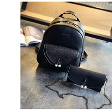 Роскошный Кожаный Рюкзак для Женщины Леди Белый Черный Случайные Рюкзак Школьные Сумки для Девочек Студент Подростков Mochila Эсколар 2 штук