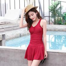 New 2019  Sexy Ladies Swimwear Solid Push Up Skirted Bathing Suit Padded One Piece Strappy Ruched Beach Dress  Women Swimsuit plus size skirted ruched one piece criss cross swimsuit