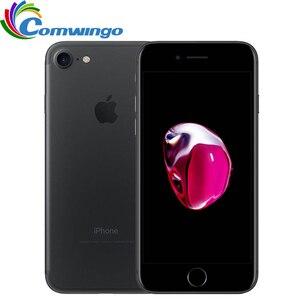 Image 1 - Desbloqueado apple iphone 7 32/128 gb/256 gb ios 10 12.0mp 4g câmera quad core impressão digital 12mp 2910ma iphone7 lte telefone celular