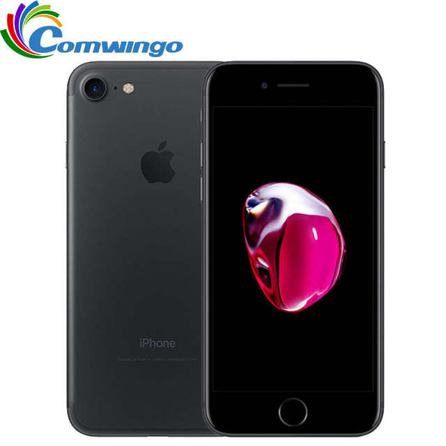 Desbloqueado apple iphone 7 32/128 gb/256 gb ios 10 12.0mp 4g câmera quad core impressão digital 12mp 2910ma iphone7 lte telefone celular