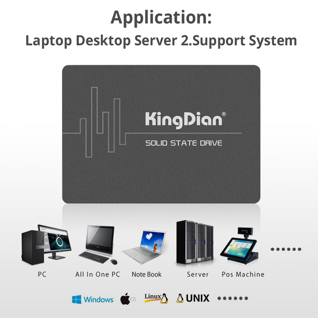 "KingDian SSD 1TB 240 gb 120gb HD SSD SATA III 3 Hard Drive 2.5"" SSD 128gb 256gb 512gb 480gb hdd Internal Solid State Disk 3"