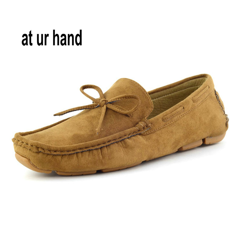 Fashion Mens Comfortable Male Moccasin Loafers Vintage Men Driving Shoes Solid Color Size 39-44