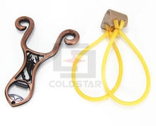 32-021 Powerful Creative Metal Slingshot Shot Brace Catapult For Outdoor Hunting Shooting Sports Entertainment With Rubber Band