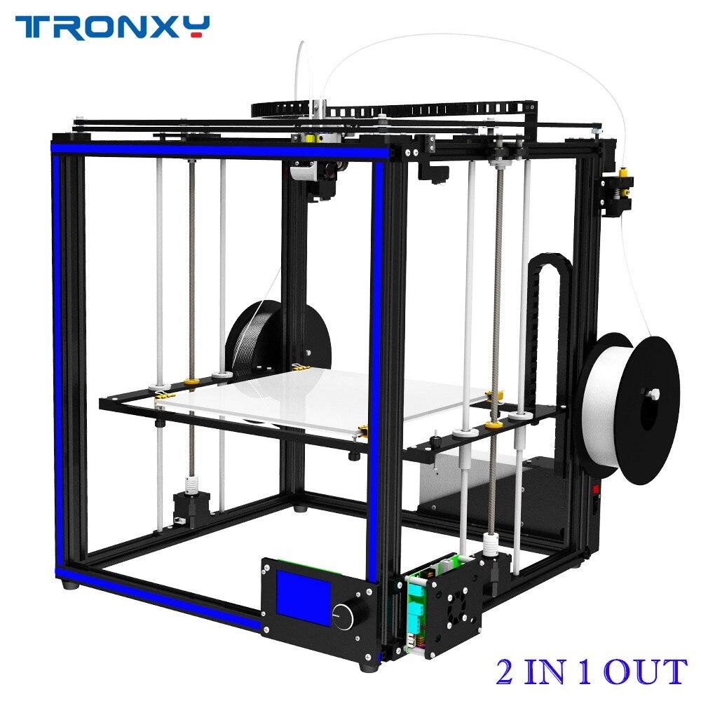 Tronxy Double Extrudeuse 2 dans 1 out 3D Imprimante Multi couleur cyclope tête DIY kits Belle Mise À Niveau pour deux couleur gradients d'impression
