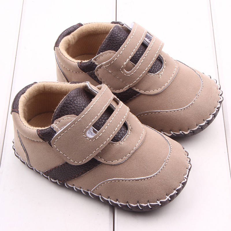 Brand Spring Baby Shoes PU Leather Newborn Boys Shoes First Walkers Baby Moccasins 0-18 Months