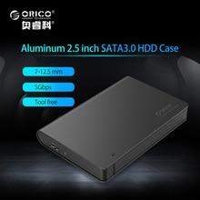 ORICO 2589S3-BK UASP USB 3.0 SATA III 2.5″ Tool Free Hard Drive / SSD Enclosure Supported 2TB (No Hard Disk) — Black