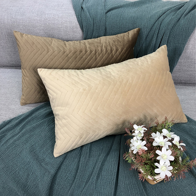 EHOMEBUY New Arrival Cushion Covers Rectangle <font><b>Pillow</b></font> <font><b>Cases</b></font> Plush <font><b>30*50</b></font> Cushion Cover Home Hotel Sofa Decoration Solid Color image