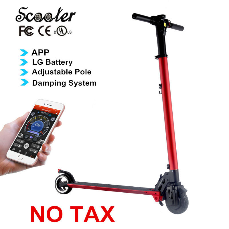 foldable electric scooter with app lg battery easy folding. Black Bedroom Furniture Sets. Home Design Ideas