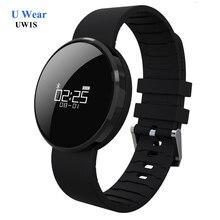 Круглые Часы UW1S Смарт Пульсометр Шагомер Sleep Tracker Смарт Браслеты Водонепроницаемый Вызова SMS Напоминание для Телефона