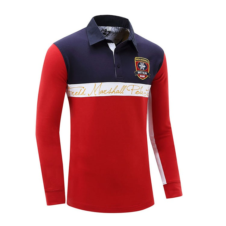 Aolamegs Men Polo Shirt Contrast Color Long Sleeve Polos Homme 2017 Spring Summer New Cotton Camisa Polo Masculino Europe Size (2)