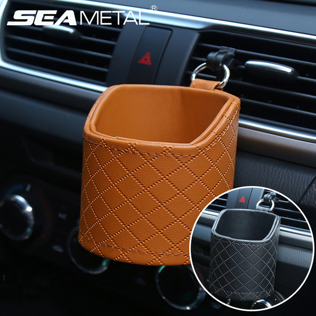 Car Storage Box Organizer Outlet Vent Auto Phone Glasses Cup Holder Storage Pouch Pocket Hanging Bag Universal Car Accessories