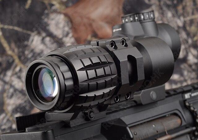 Тактический красный точечный прицел 3x лупа подходит для Aimpoint sight с откидной стороной Picatinny Weaver Rail Mount Охота M9443