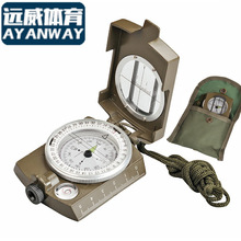 American metal compass belt neon luminous professional outside sport multifunctional compass with bag waterproof