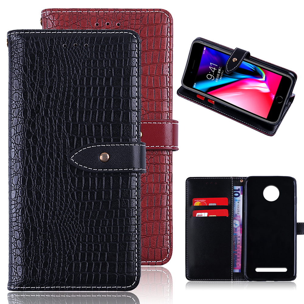 UTOPER Case For Motorola Moto Z3 Play Luxury Wallet Case Hold PU Leather Flip Case For Moto G6 Play Plus Case For Moto Z3 Play