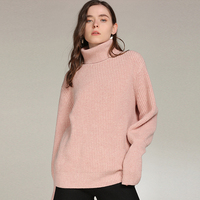 100% кашемировый свитер Для женщин толстые простой Дизайн Водолазка с длинным рукавом 4 цвета Повседневное Solid пуловеры трикотаж 2018 Новая мод