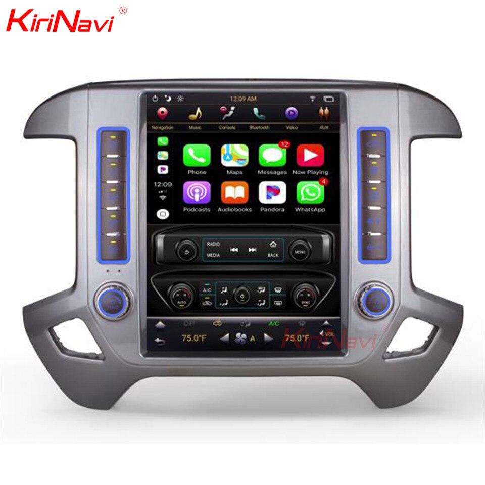 KiriNavi вертикальный экран Tesla стиль дюймов 7,1 дюймов android 12,1 сенсорный экран автомобиля радио для Chevrolet Silverado и GMC Sierra 2 + 32 ГБ