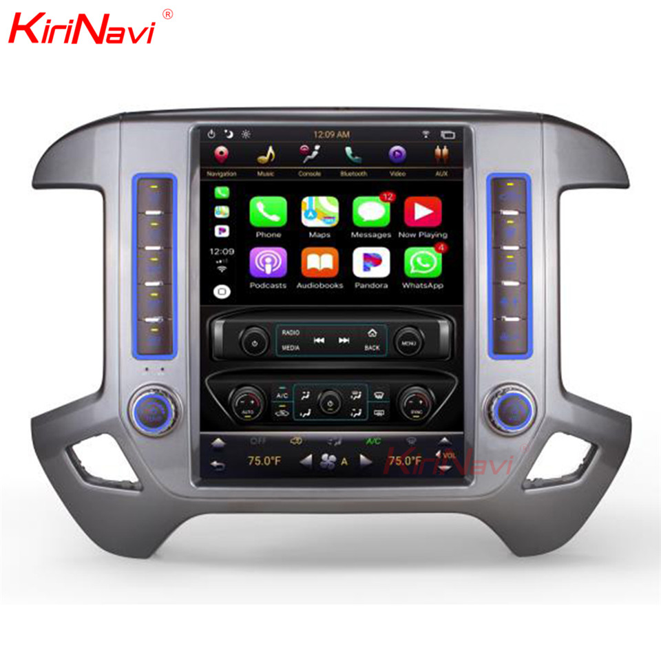 KiriNavi Vertical Screen Tesla Style 12.1 Inch android 7.1 Touch Screen Car Radio For Chevrolet Silverado and GMC Sierra 2+32GB