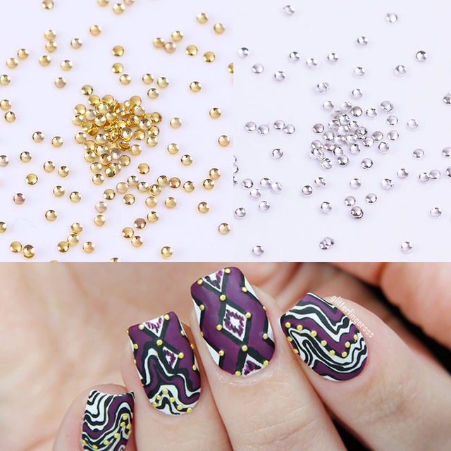 100pcs Mini Dot Nail Studs 3d Nail Decoration Manicure Nail Art