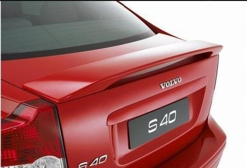 Osmrk unpainted ABS tail wing trunk rear spoiler for volvo s40 high quality old style abs unpainted lamp tail spoiler roof spoiler wing fit for toyot prado for prado 2700 4000 grj120