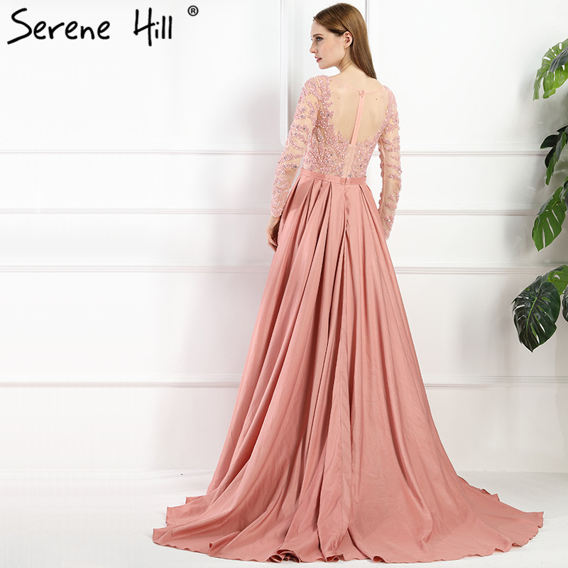 b9d7f410d9 Luxury Dubai Arabic Robe De Soiree Evening Dresses 2019 New Long Sleeve  Prom Dress Party Crystal Beaded Vestido De Festa BLA6172