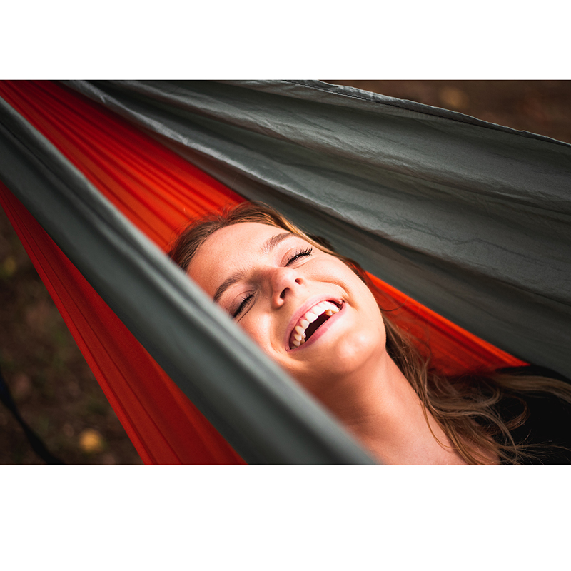 Купить с кэшбэком Acehmks 2 People Portable Parachute Hammock Camping Survival Garden Hunting Leisure Travel Double Person With 2 Tree Ropes 300CM