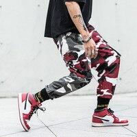 Camouflage Pants Men Camo Pants Hip Hop Cargo Pants Casual Male Jogger Hombre Punk Streetwear Contrast Color Youth Cotton Autumn