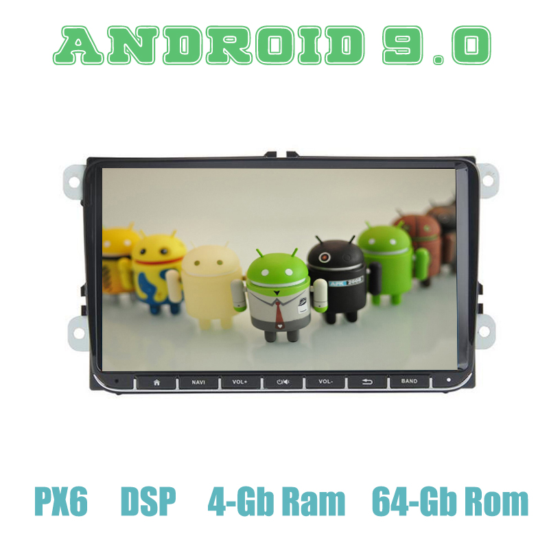 PX6 6 5 Android 9.0 GPS Rádio Do Carro para VW Golf Polo Passat b5 mk5 mk6 Jetta Tiguan EOS Sharan seat Leon com 4 + 64 GB Auto Estéreo
