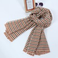 2016 New Fashion Women Houndstooth Knitted Crochet Classic Scarf Wraps Female Pashmina Scarves High Quality Tassel Shawls