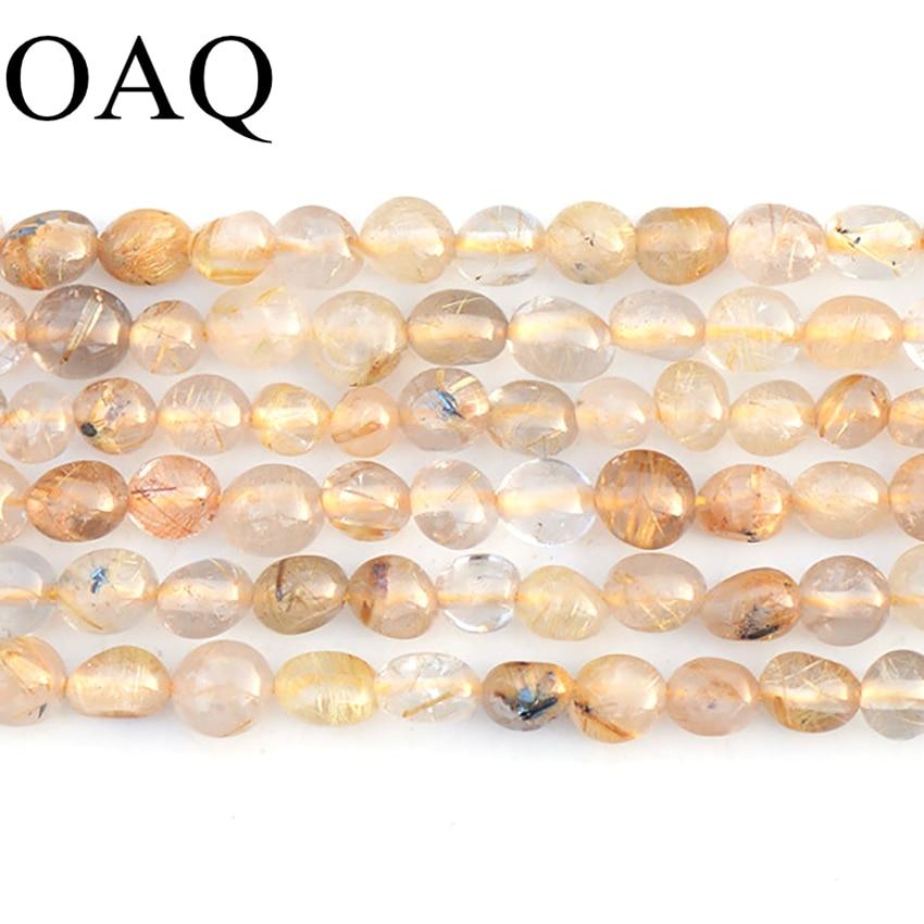 Aliexpress.com : Buy Gold Rutilated Quartz Crystal Beads ... Quartz Crystal Beads