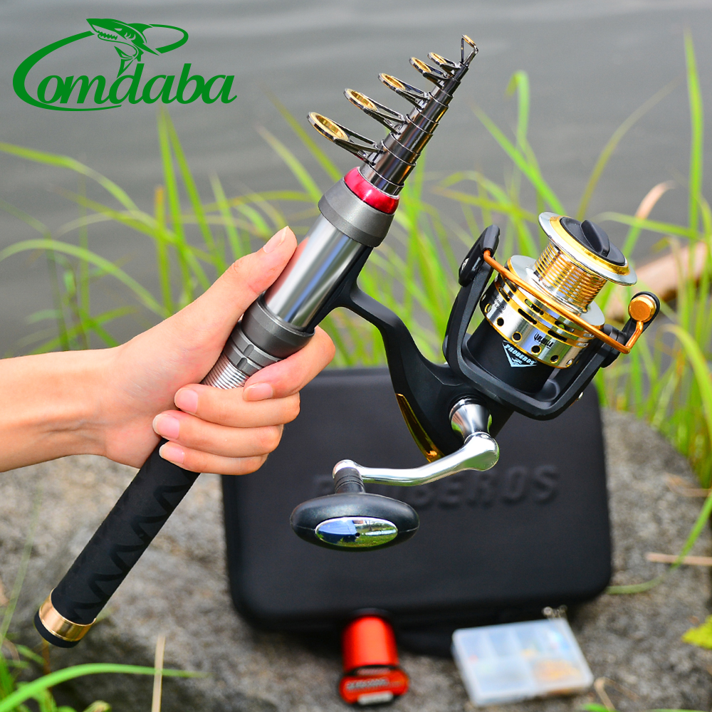 1.8M-2.7M Comdaba Style High Carbon Telescopic Fishing Rod 9/10/11 Section Metal Handle Sea Fishing Rod With Strong Bag Set(China)