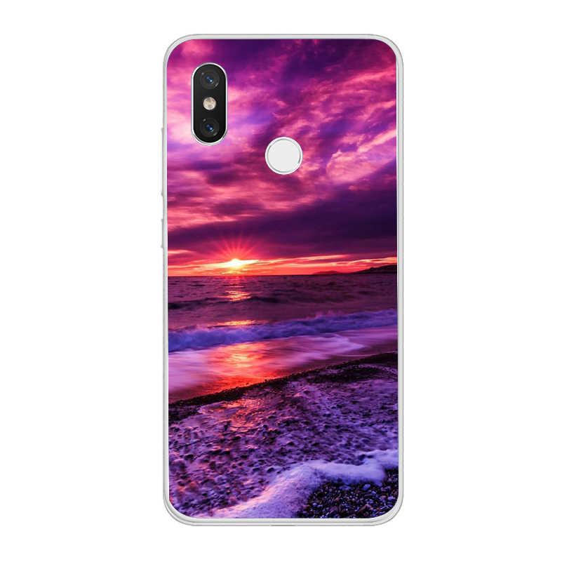 Ciciber Hawaii Đi Biển Mùa Hè Đại Dương Dành Cho Xiaomi MIX MAX 3 2 1 S Pro Ốp Điện Thoại Dành Cho Xiaomi A2 a1 8 6 5 X 5C 5S Plus TPU Mềm DẺO