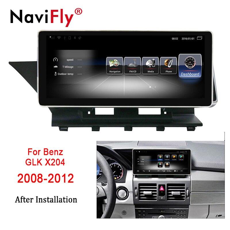 NaviFly 10.25 pouces 3 + 32 Android 7.1 voiture GPS navigation lecteur multimédia pour Mercedes Benz GLK X204 2008-2012 WIFI BT 4G LTE