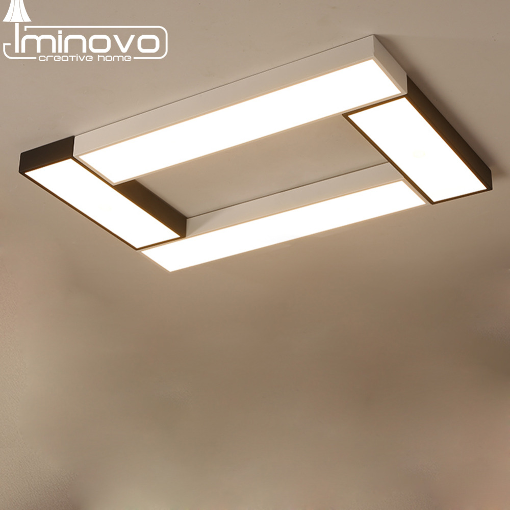 Modern led ceiling light panel lamp square lighting fixture hall surface mount flush remote control living room bedroom in ceiling lights from lights